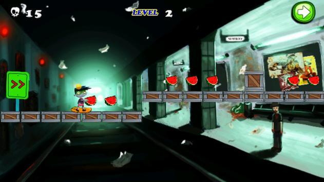 Subway Zombie Skater Run screenshot 2