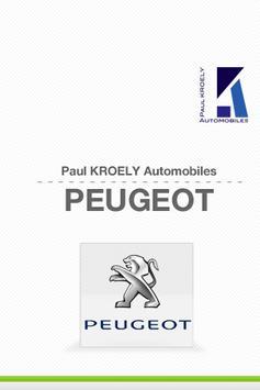 Peugeot PaulKROELY Automobiles poster