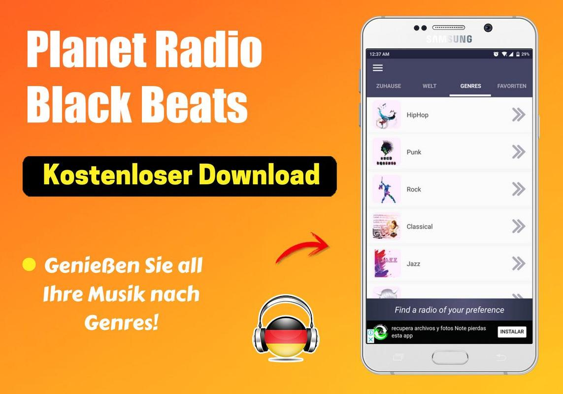 black planet radio app for android