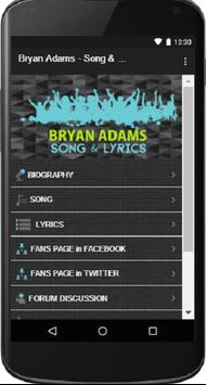 Bryan Adams - Song & Lyrics poster