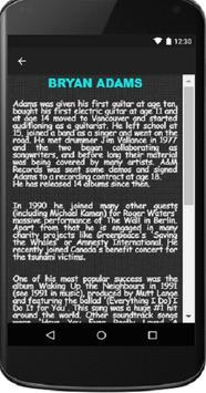 Bryan Adams - Song & Lyrics apk screenshot