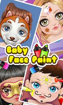 Baby Face Art Paint poster