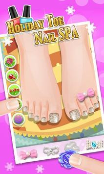 Holiday Toe Nails SPA poster