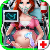 Pregnant Emergency Surgery icon