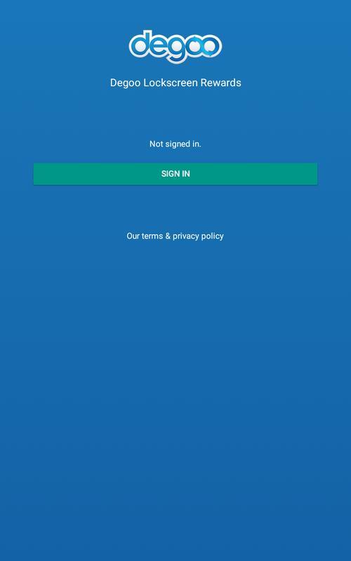 Degoo Lockscreen Cloud Storage Rewards F 252 R Android Apk
