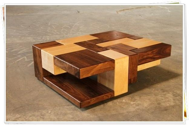 unique wooden coffee table for android