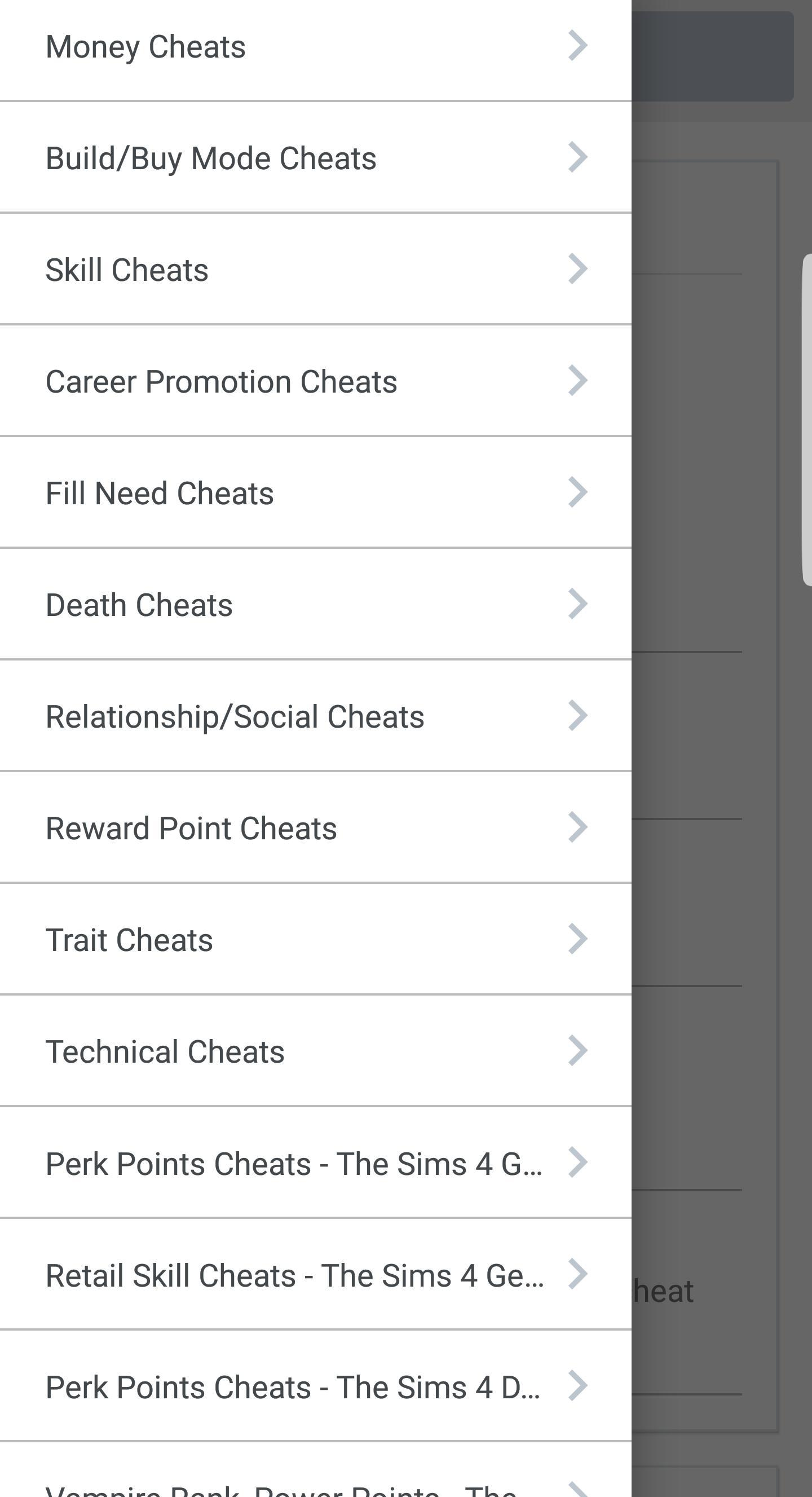 The Sims 4 Cheats for Android - APK Download