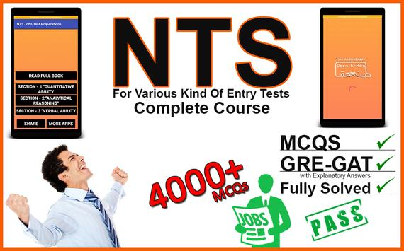 NTS Jobs Test Preparation:NTS MCQs:GRE-GAT Solved poster