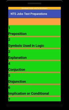 NTS Jobs Test Preparation:NTS MCQs:GRE-GAT Solved screenshot 4