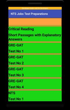 NTS Jobs Test Preparation:NTS MCQs:GRE-GAT Solved screenshot 5