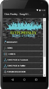 Elvis Presley - Song & Lyrics poster