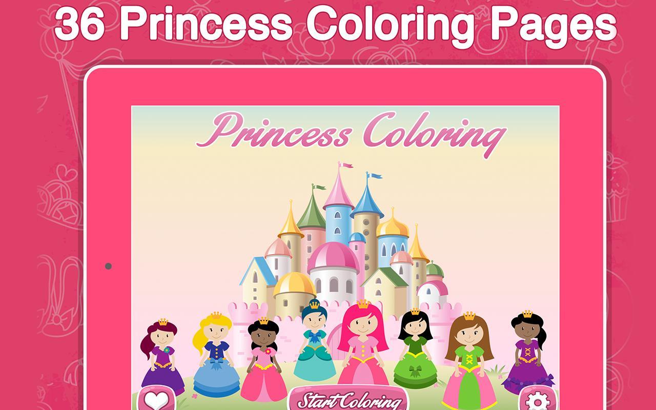 Princess Frozen Coloring Book Apk Screenshot