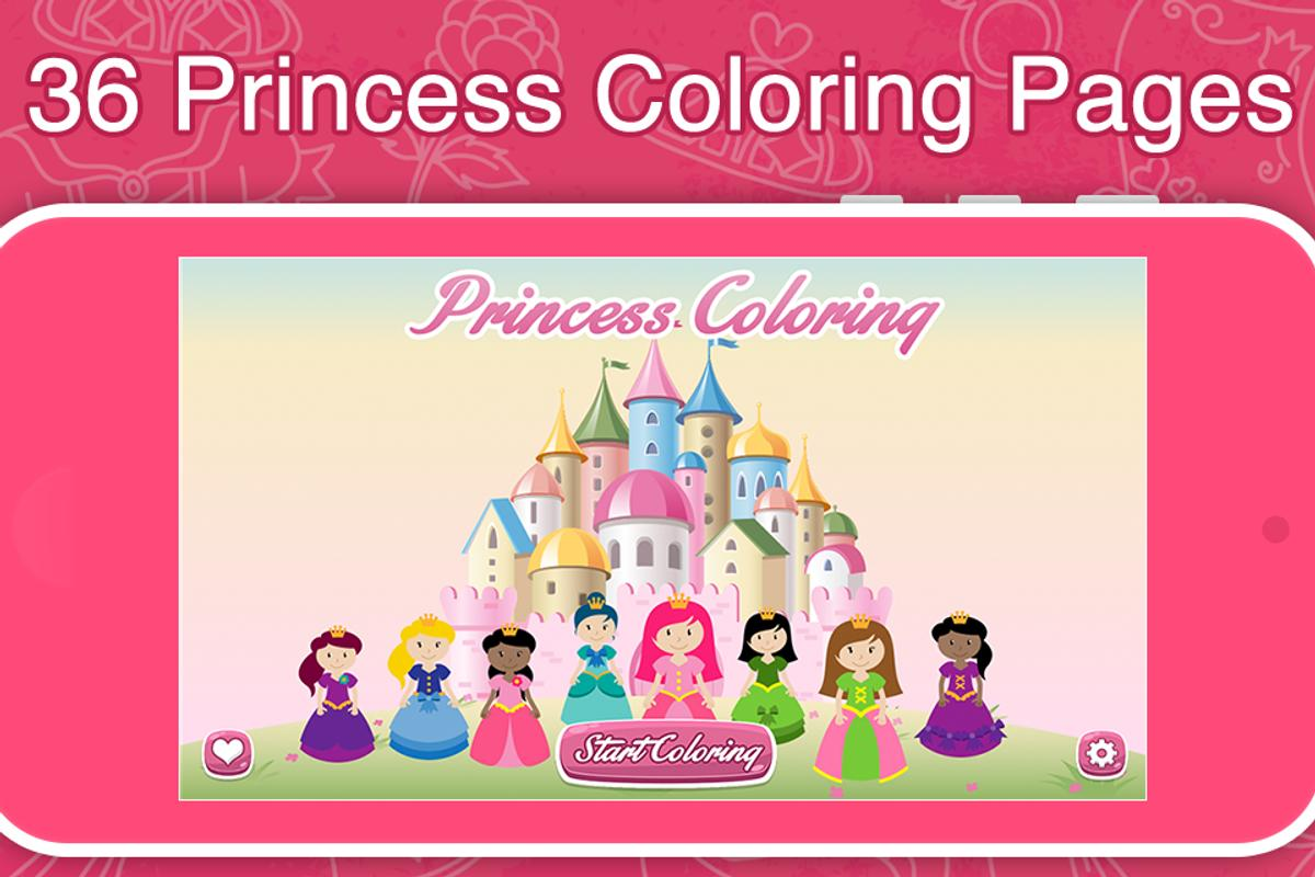 Princess Frozen Coloring Book APK Download