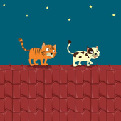 Cat on the roof icon