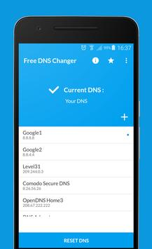 Free DNS Changer (no root 3g/wifi) poster