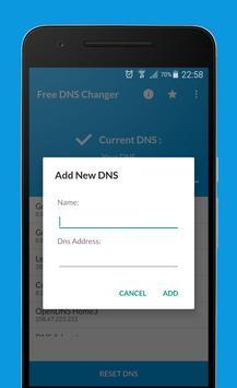 Free DNS Changer (no root 3g/wifi) apk screenshot