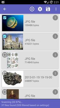 استعادة الصورة مع DiskDigger apk تصوير الشاشة