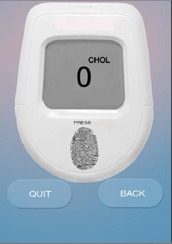 Cholesterol Finger Test Prank poster