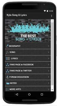 kyla Song & Lyrics screenshot 1