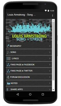 Louis Armstrong - Song & Lyrics screenshot 1