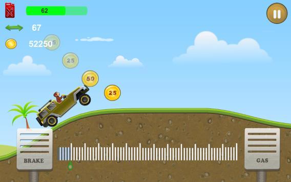 Curious Biking Monkey poster