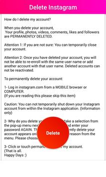 Delete guide for instagram deactivate apk download free delete guide for instagram deactivate apk screenshot ccuart Gallery