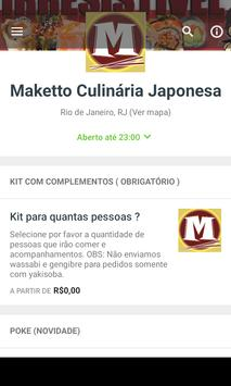 Maketto Culinária Japonesa screenshot 1