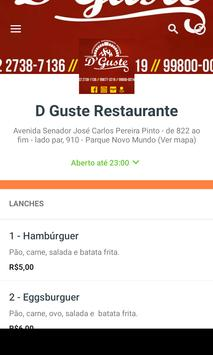 D Guste Restaurante screenshot 1