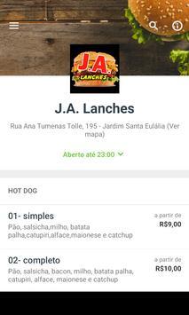 J.A. Lanches screenshot 1