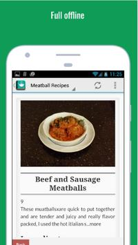 Delicious Meatball Recipes apk screenshot