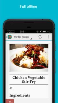 Delicious Stir Fry Recipes apk screenshot
