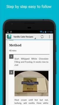 Delicious Vanilla Cake Recipes screenshot 4