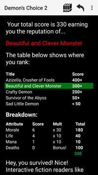 Demon's Choice: Text Adventure RPG screenshot 7