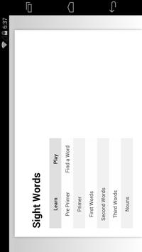 Learn Sight Words screenshot 2