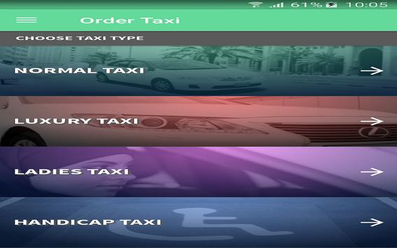 Ajman Taxi apk screenshot