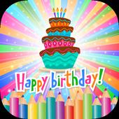 Happy Birthday Coloring Book icon
