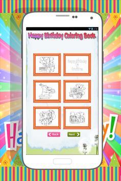 Happy Birthday Coloring Book screenshot 1