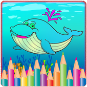 Sea Animals Coloring Book icon