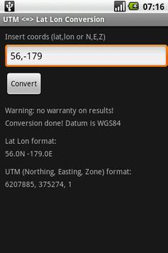 UTM to Lat Lon Conversion for Android - APK Download