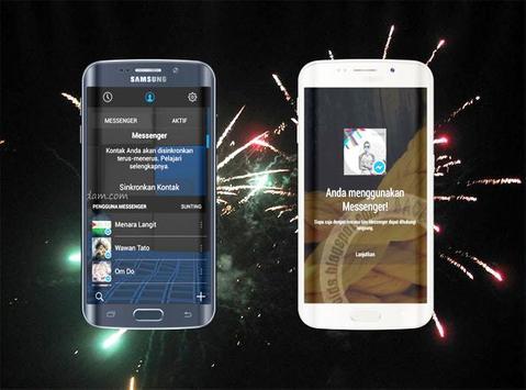 Delta Messenger Transparan screenshot 1