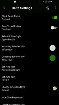 DELTA BBM BLACK THEME apk screenshot