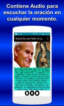 Oración De Juan Pablo II A La Virgen De Guadalupe apk screenshot