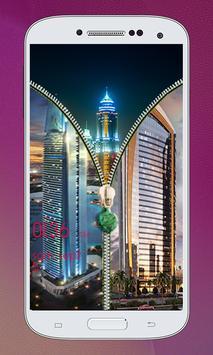 Dubai Zipper Lock Screen apk screenshot