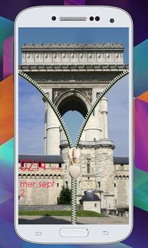 Paris Zipper  Lock Screen screenshot 16