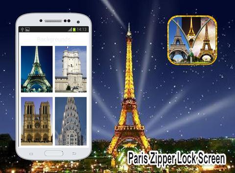 Paris Zipper  Lock Screen screenshot 12