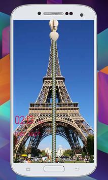 Paris Zipper  Lock Screen screenshot 9