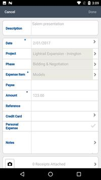 Deltek Touch Expense for Ajera screenshot 2