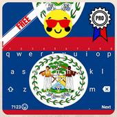 Keyboard Belize flag Theme & Emoji icon