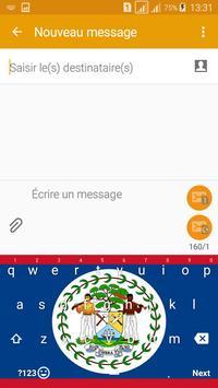 Keyboard Belize flag Theme & Emoji screenshot 3