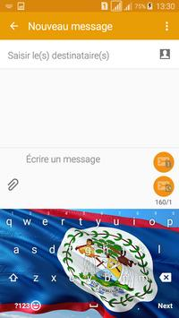 Keyboard Belize flag Theme & Emoji screenshot 1